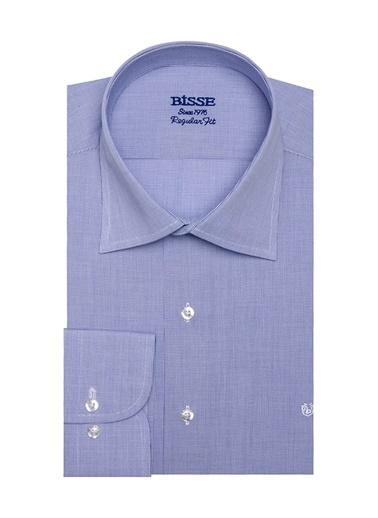Bisse GM18Y80079 Regular Fit Kareli Klasik Gömlek Mavi